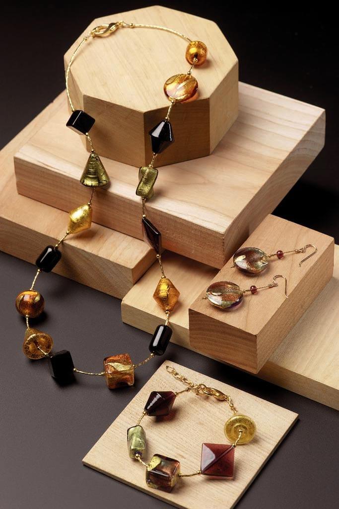 bijoux en verre de Murano de venise creations originales