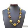gold Venetian glass jewelry necklaces