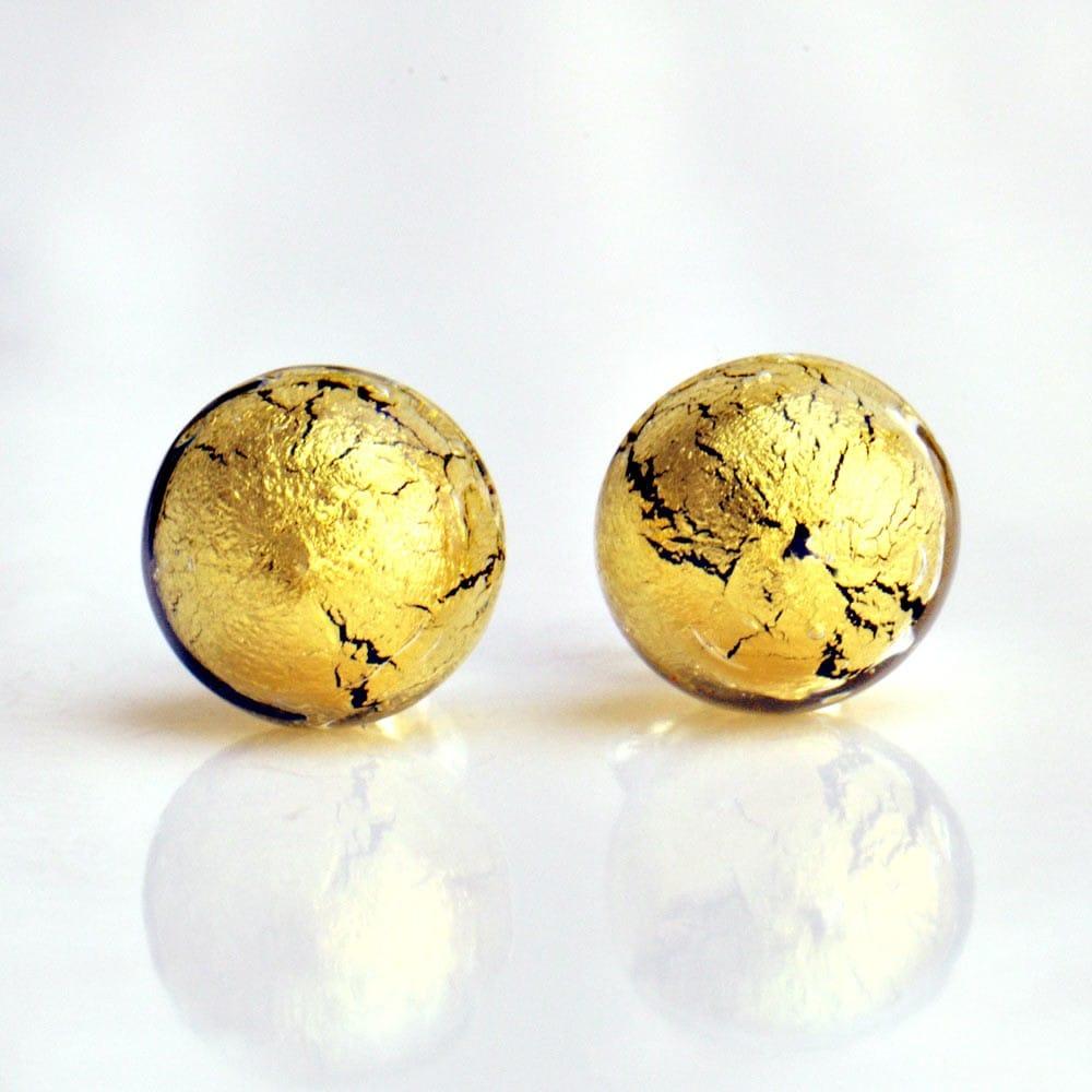 nouveaux produits chauds bien profiter de prix bas De Murano Cristal Verre Venise Or Boucles D'oreilles En fyb6gvY7
