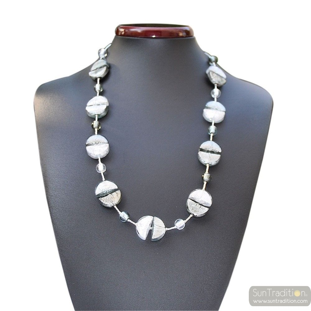 COLORADO SILVER NECKLACE IN REAL MURANO GLASS