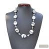 SILVER VENETIAN GLASS NECKLACE