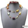 amber Venetian glass jewellry necklaces