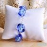 SASSO RIGADIN BLUE COLLAR IN REAL MURANO GLASS VENICE