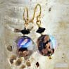 MOONLIGHT BLACK EARRINGS JEWEL IN REAL VENICE MURANO GLASS
