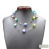 multicolor Venetian glass jewellry necklaces