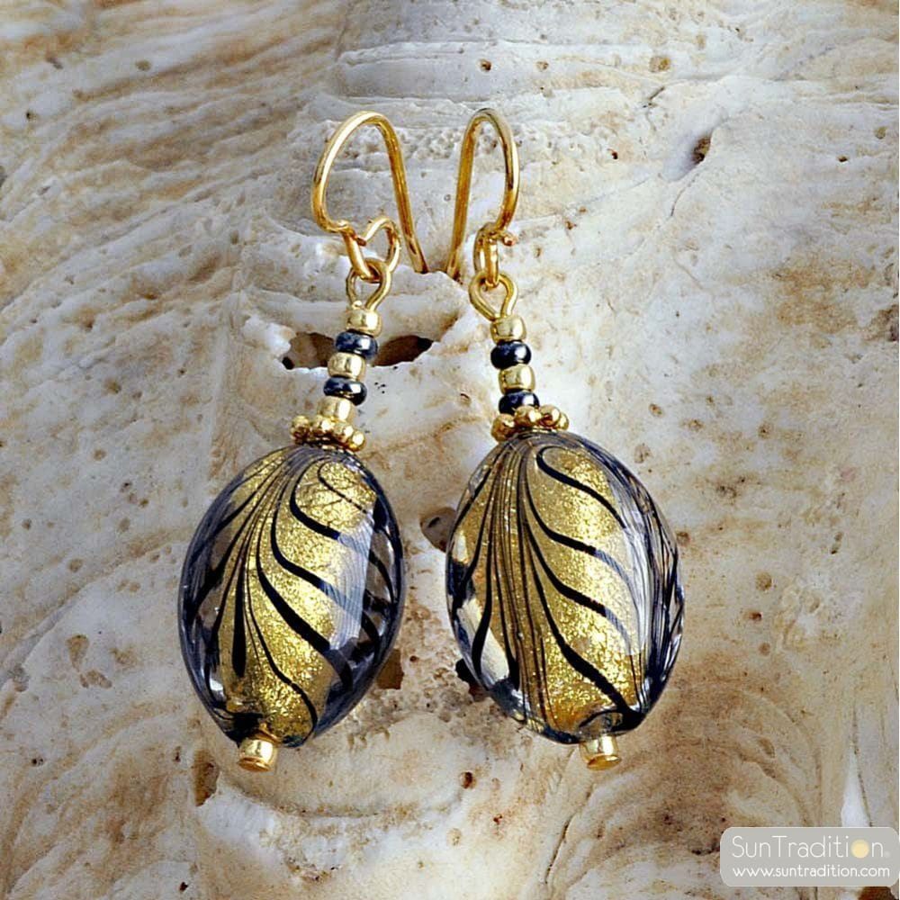 BOUCLES D'OREILLES MURANO OR