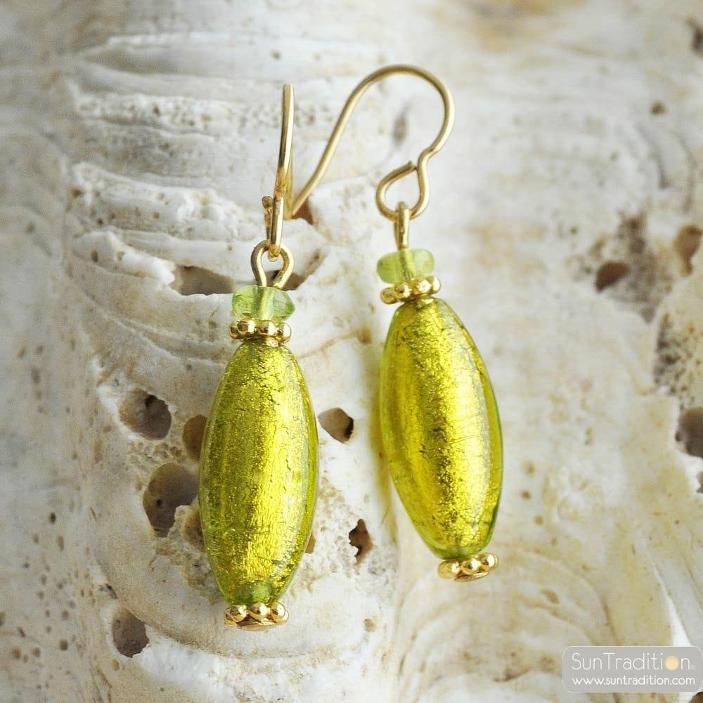 ANIS GREEN MURANO GLASS EARRINGS