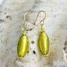 ANIS GREEN MURANO GLASS EARRINGS OLIVER