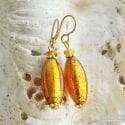 AMBER MURANO GLASS EARRINGS OLIVER