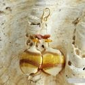 GOLD MURANO GLASS EARRINGS FROM VENICE CARAMEL PANNA