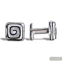 SPIRAL SILVER CUFFLINKS IN REAL MURANO GLASS VENICE