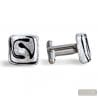 SILVER MURANO GLASS CUFFLINKS IN REAL MURANO GLASS VENICE