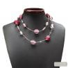 pink Venetian glass jewellry necklaces