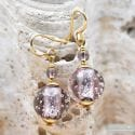 FIZZY PARMA EARRINGS GENUINE VENICE MURANO GLASS