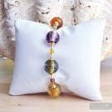 Fizzy amber - Multicolor Murano glass pearls bracelet from Venice Italy