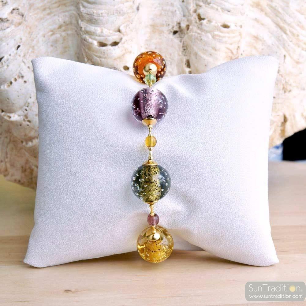 amber murano glass jewelry bracelet