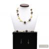 GOLD MURANO GLASS JEWELRY SET IN REAL MURANO GLASS VENICE