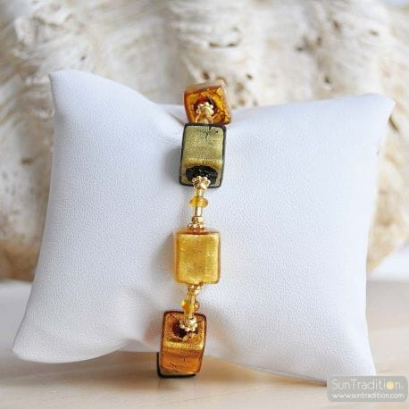 GOLD MURANO GLASS BRACELET