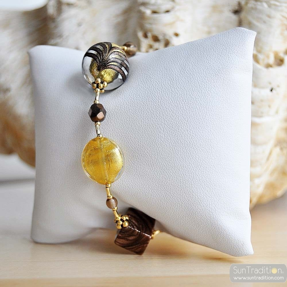 GOLD MURANO GLASS BRACELET