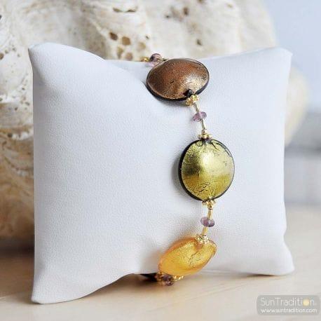gold murano glass bracelet genuine murano jewelry