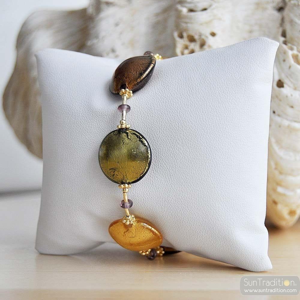 GOLD VENETIAN GLASS BRACELET