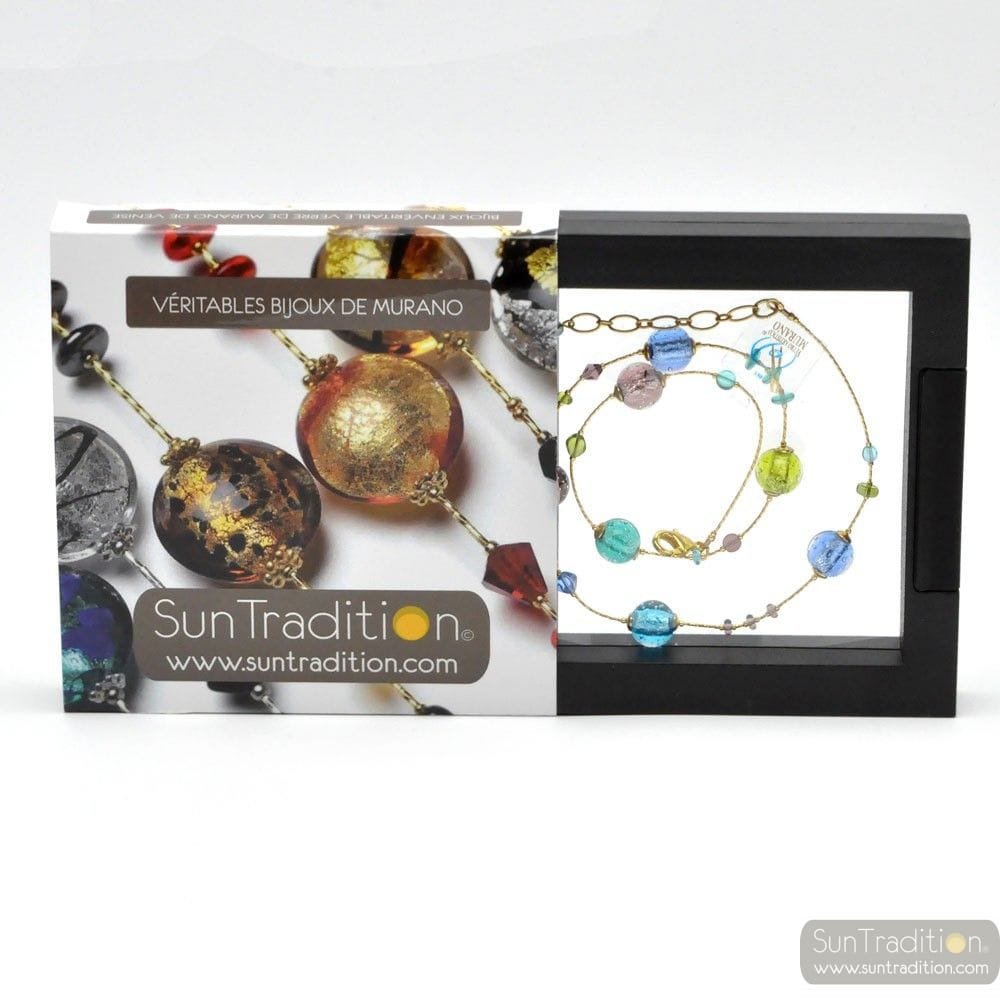 COLLIER VERRE MURANO MULTICOLORE
