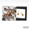 FIZZY AMBER EARRINGS GENUINE VENICE MURANO GLASS