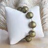 KHAKI GREEN amber murano glass jewelry bracelet