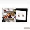 AMERICA - PARMA AND GOLD EARRINGS GENUINE MURANO GLASS VENICE