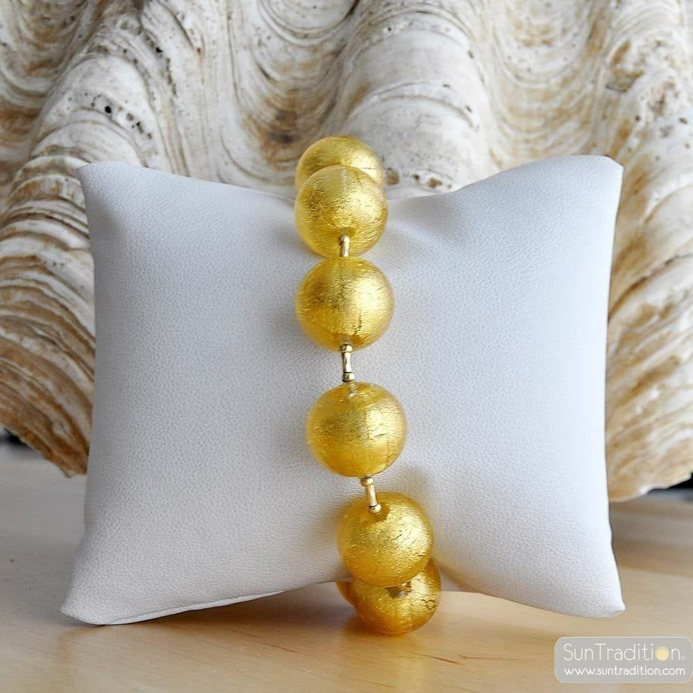 KUGEL GOLD ARMBAND - ECHTEM MURANOGLAS