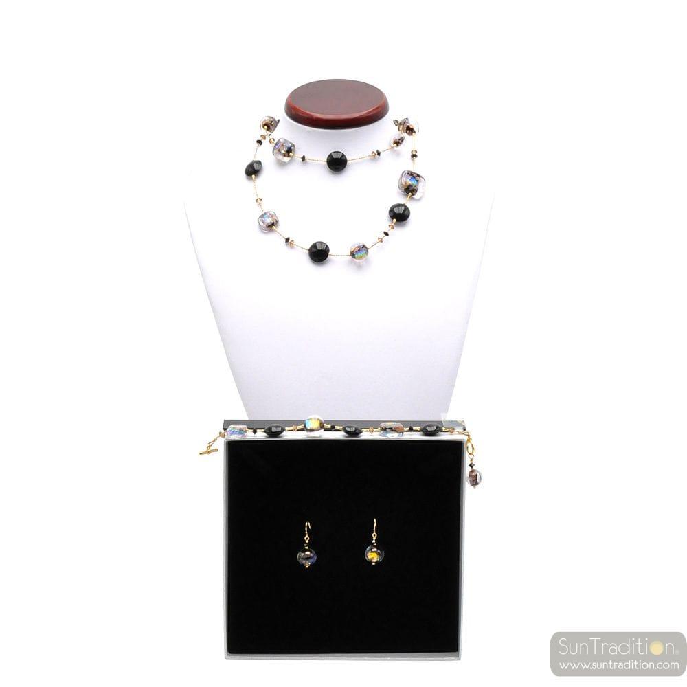 MOONLIGHT BLACK - VERSIERING-SIERADEN ORIGINELE MURANO GLAS VAN VENETIË