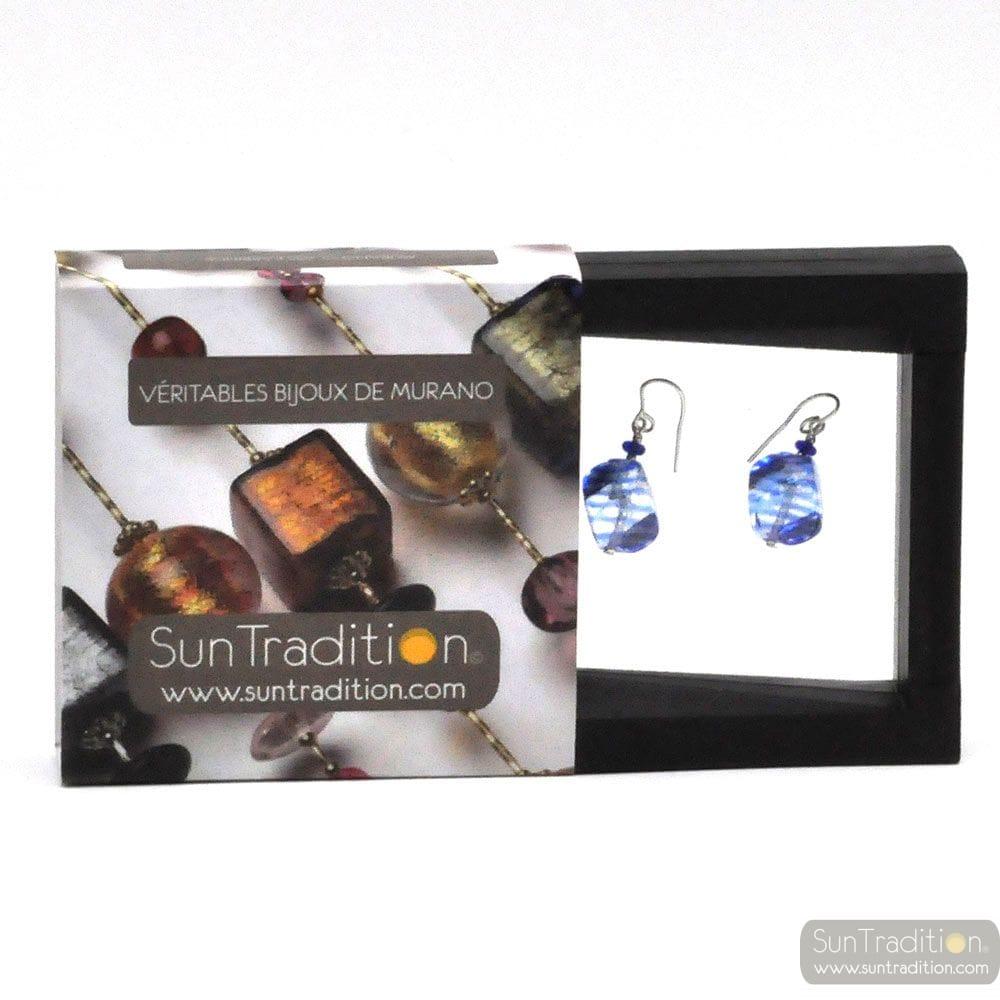 SASSO RIGADIN EARRINGS IN TRUE MURANO GLASS OF VENICE