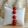 pulseira de vidro murano vermelha Ball de Veneza