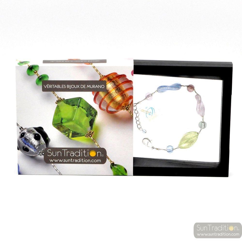 CHLOROPHYLLE SILVER - MURANO REAL GLASS BRACELET