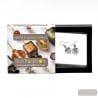 JO-JO BLACK AND SILVER EARRINGS GENUINE MURANO GLASS VENICE