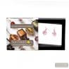 JO-JO PINK AND SILVER EARRINGS GENUINE MURANO GLASS VENICE