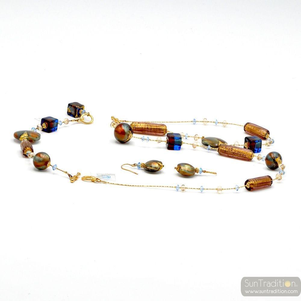 ROMANTICA JEWELRY SET IN REAL MURANO GLASS VENICE