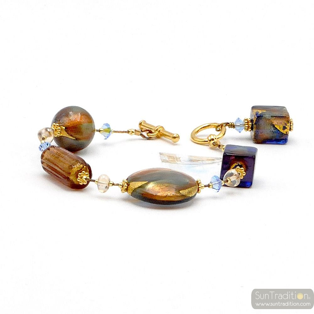 ROMANTICA AMBER - GENUINE AMBER MURANO GLASS BRACELET FROM VENICE