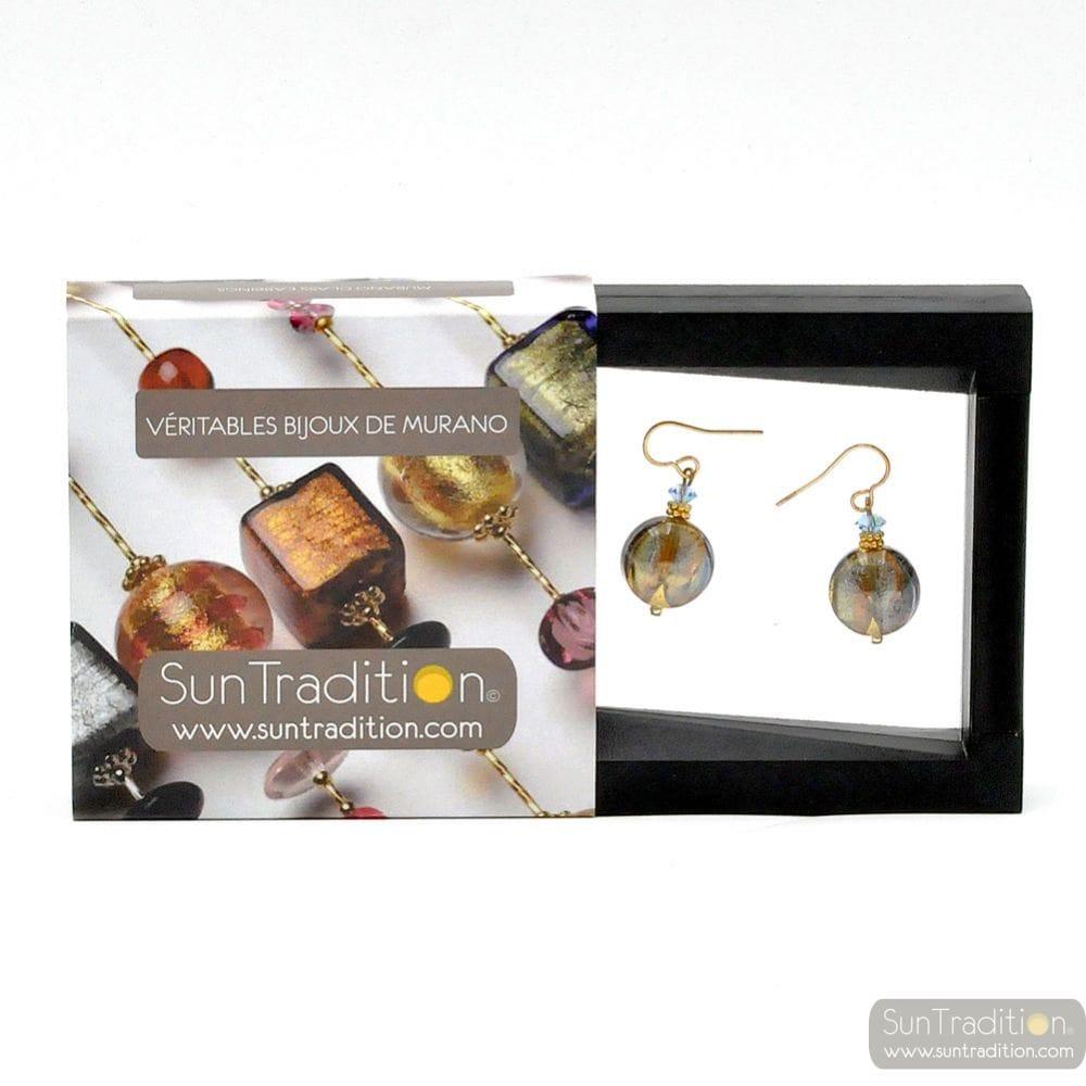 ROMANTICA EARRINGS GENUINE VENICE MURANO GLASS