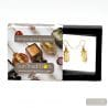 ASTEROIDE - EARRINGS CHOCOLATE AND GOLD GENUINE MURANO GLASS