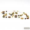 FRANCY SATIN GOLD LONG NECKLACE JEWELRY SET MURANO GLASS VENICE