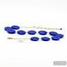 BLUE NECKLACE JEWELLRY IN TRUE MURANO GLASS OF VENICE