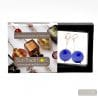 FRANCY BLUE SATIN EARRINGS GENUINE VENICE MURANO GLASS