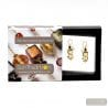 ASTEROIDE - EARRINGS BLACK AND GOLD GENUINE MURANO GLASS