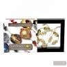 OLIVETTO BLACK AND GOLD NECKLACE GENUINE MURANO GLASS OF VENICE