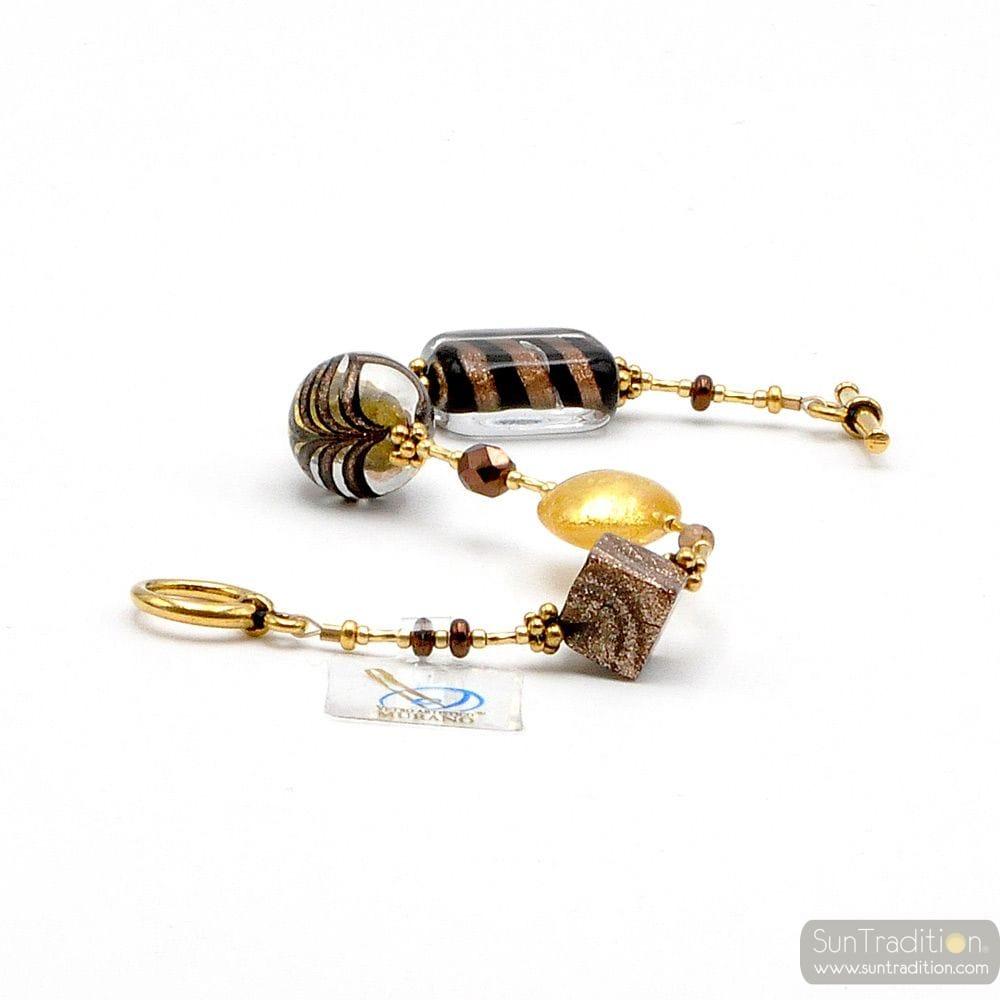 GOLD BRACELET GENUINE MURANO GLASS VENICE