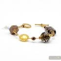 Fenicio gold - Gold and brown Murano glass bracelet from Venice Italy