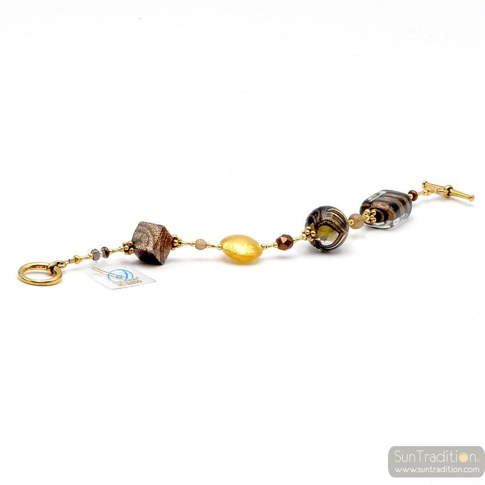 GOLD MURANO BRACELET GENUINE MURANO GLASS VENICE