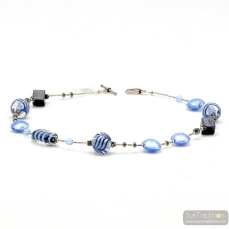 BLUE NECKLACE - BLUE TRUE MURANO NECKLACE FROM VENICE