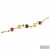 Gold and Brown genuineMurano glass bracelet from Venice Italy